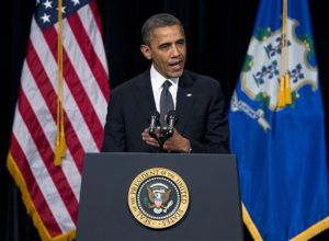 President Obama speaks in Newtown, CT.