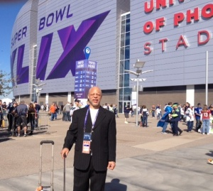 Leland Stein II at Super Bowl in Phoenix in 2015.