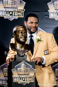 Bettis with his NFL Hall of Fame bust and Yellow jacket. - Hassan Kareem photo